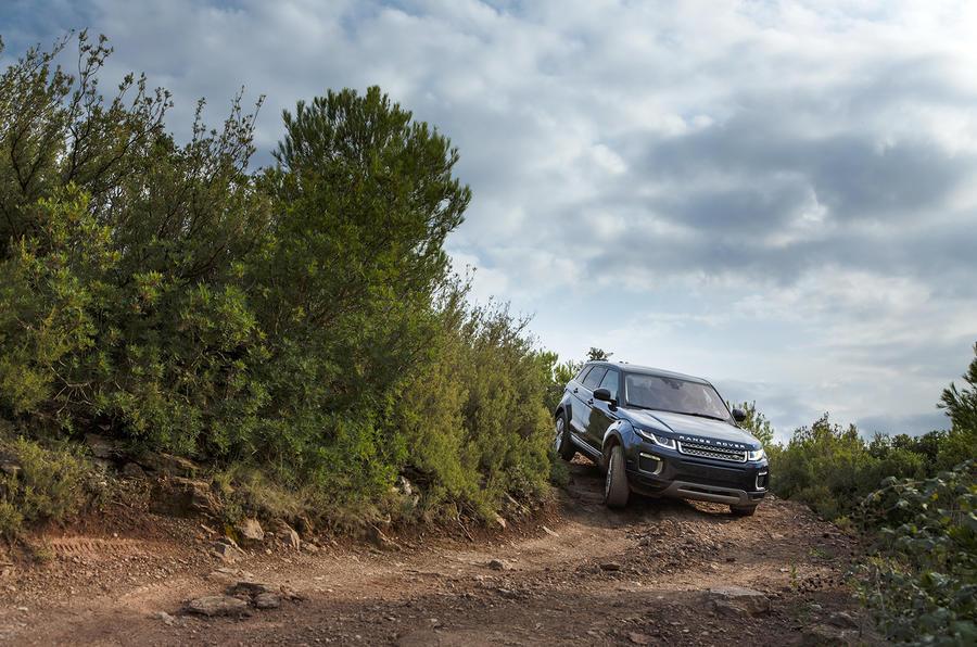 Range Rover Evoque off-roading