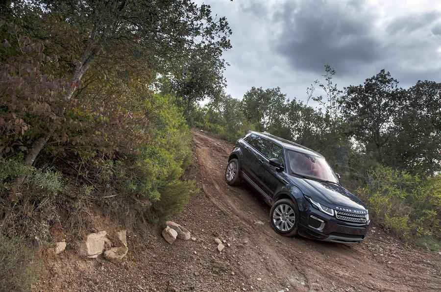 Range Rover Evoque downhill descent