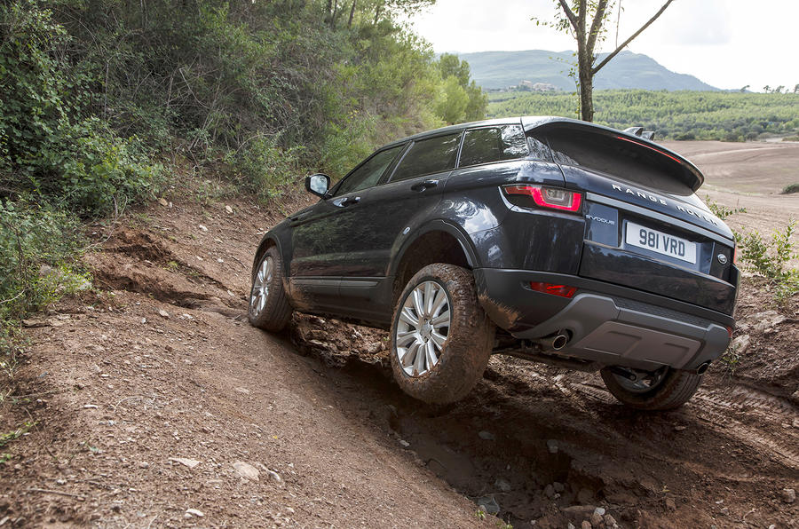 Range Rover Evoque tough off-roading