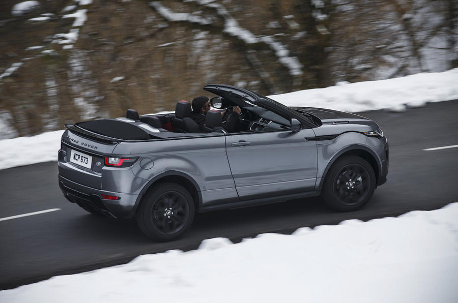 Range Rover Evoque Convertible on road