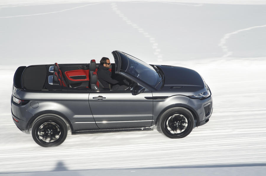 Range Rover Evoque Convertible roof down