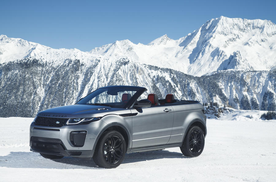 3 star Range Rover Evoque Convertible