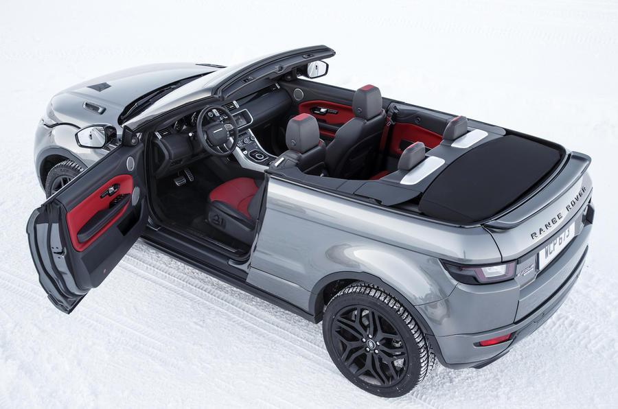 Range Rover Evoque Convertible roof down
