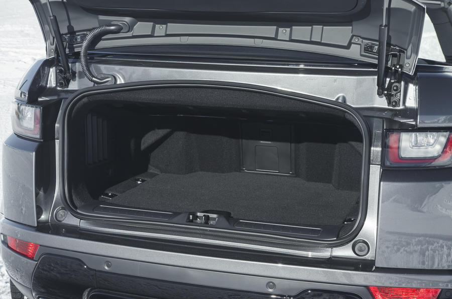 Range Rover Evoque Convertible boot space