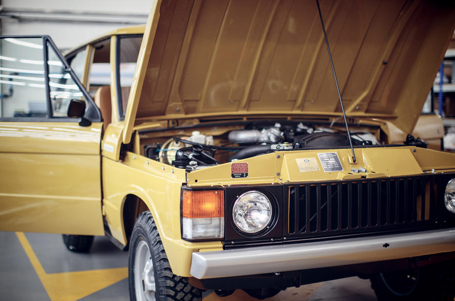 1978 two-door Range Rover bonnet
