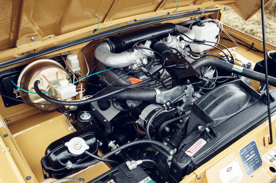 1978 two-door Range Rover engine