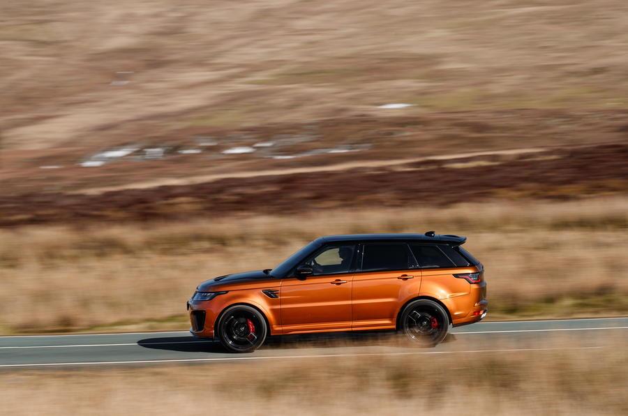 Range Rover Sport SVR profile