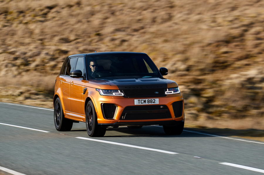 Range Rover Sport SVR on road