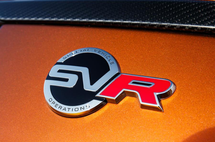 Range Rover Sport SVR badge