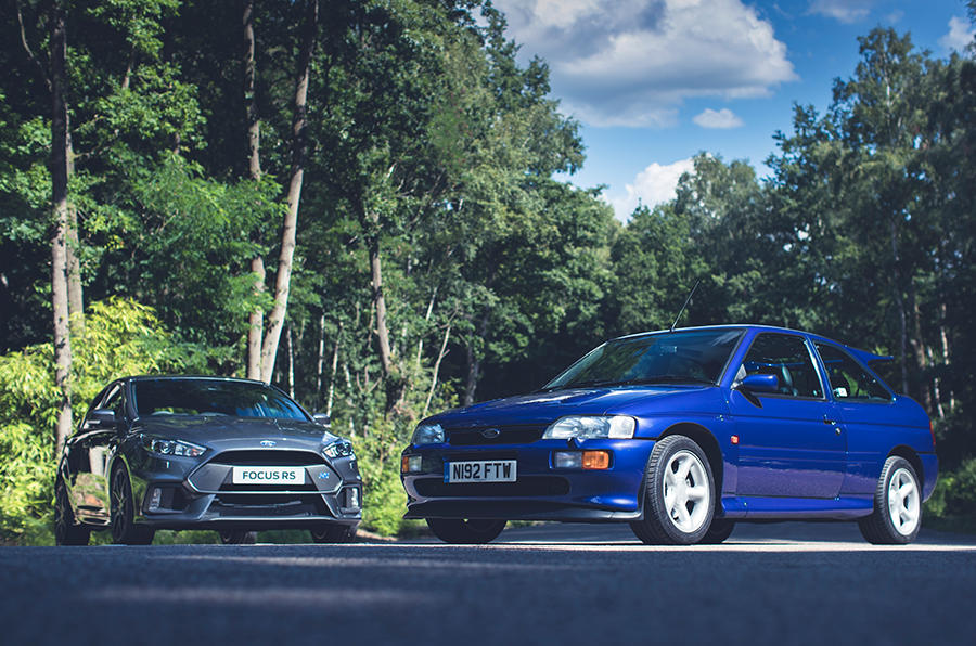 Promoted: Ford Focus RS vs Escort RS Cosworth | Autocar