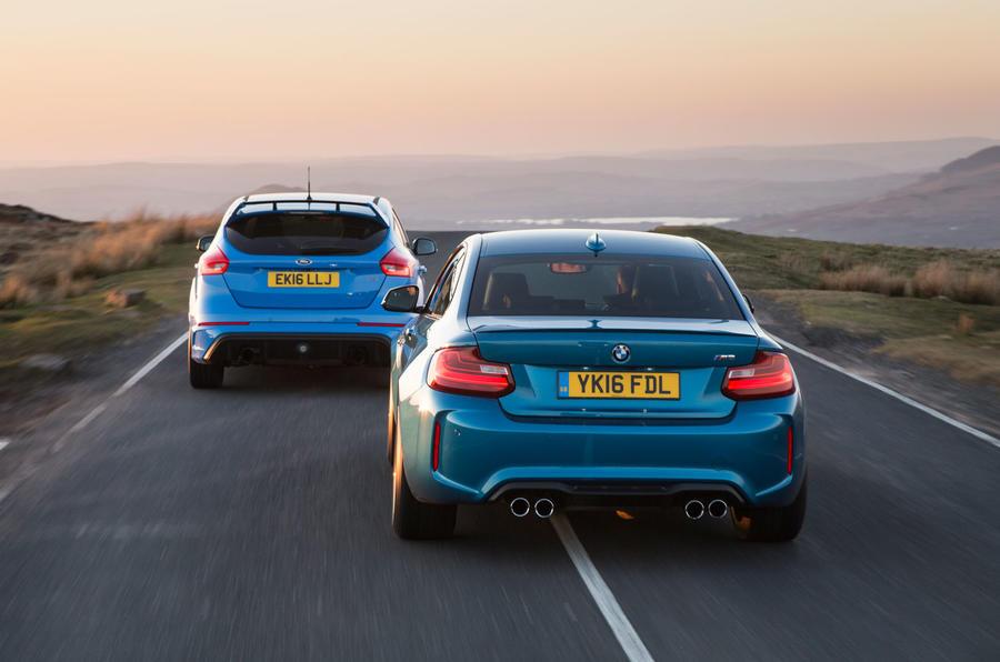 Ford focus rs vs bmw m2 twin test autocar