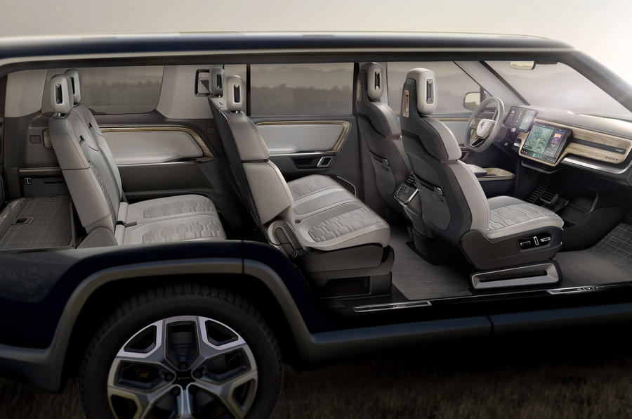 Rivian R1S official reveal - interior layout