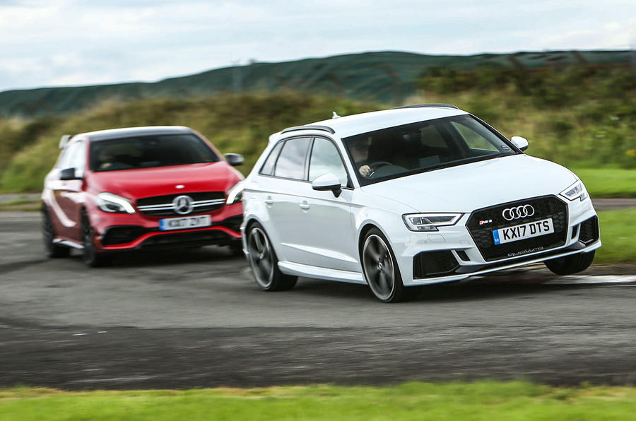 Britains Best Affordable Drivers Car Audi Rs3 Versus Mercedes Amg A45