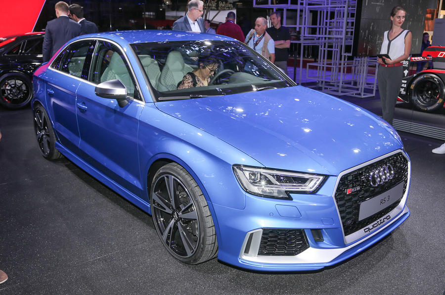 Audi RS3 saloon and RS3 LMS racer revealed in Paris | Autocar