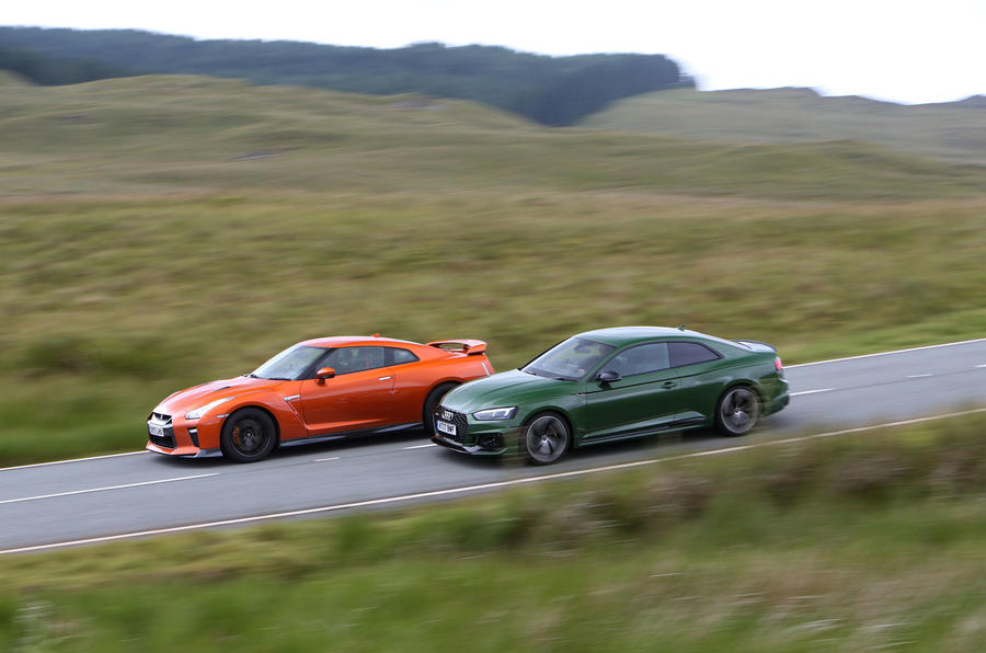 New Audi RS5 vs Nissan GT-R: two super-coupes do battle in Snowdonia