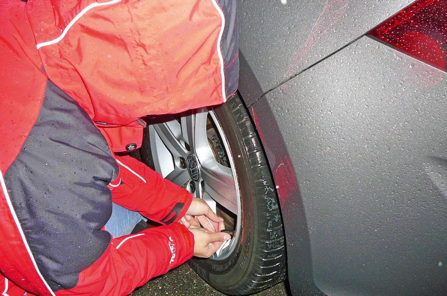 Tyre pressure Volkwagen Golf
