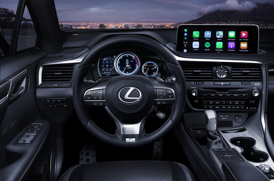 Lexus RX450HL press shots - steering wheel