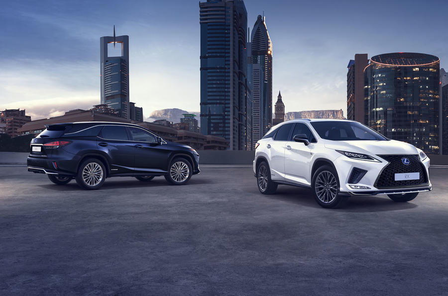 Lexus RX450HL press shots - front and rear