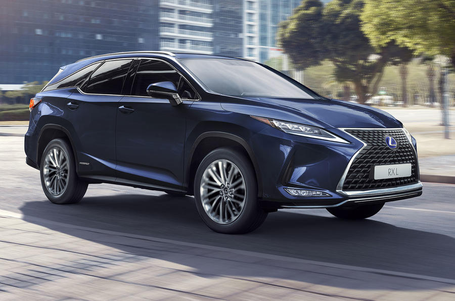 Lexus RX450HL press shots - front