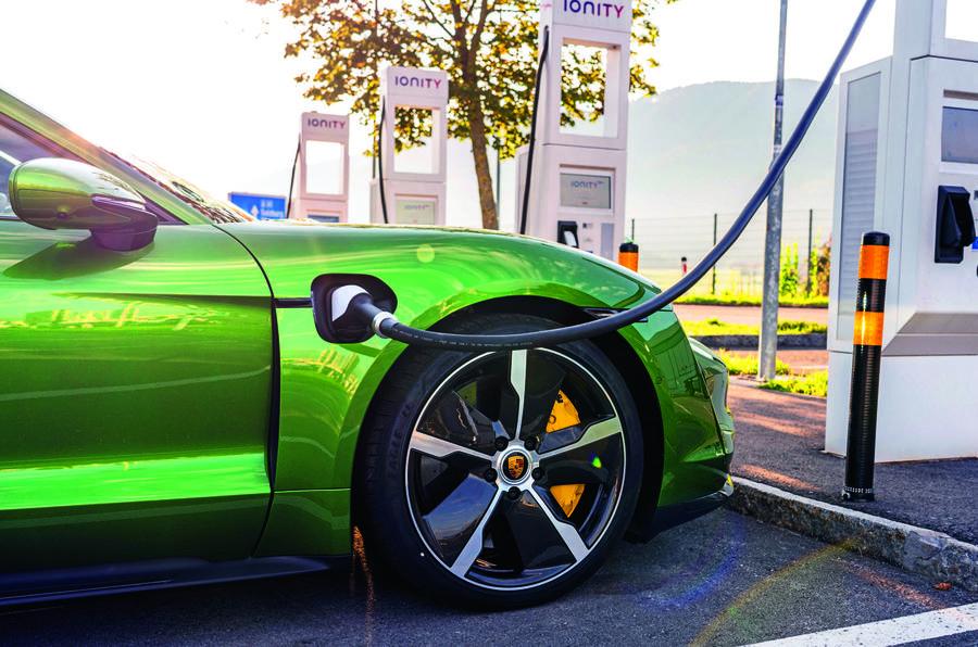 Porsche Taycan charging