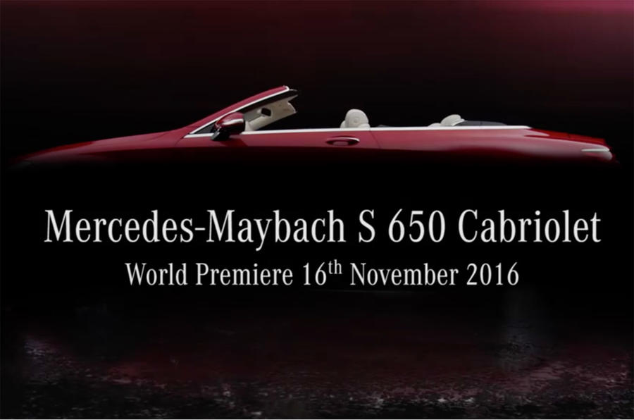 Mercedes just teased its new Mercedes-Maybach S650 Cabriolet