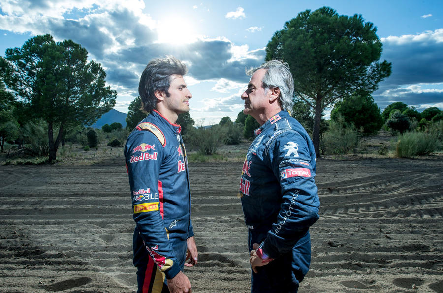 Carlos Sainz and Carlos Sainz Junior
