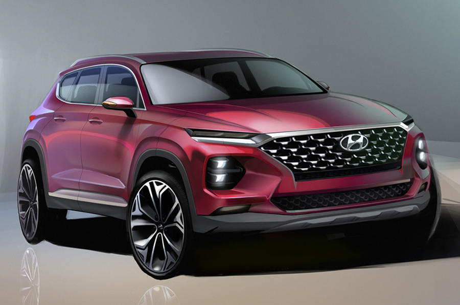 2018 Hyundai Santa Fe previewed ahead of Geneva motor show reveal