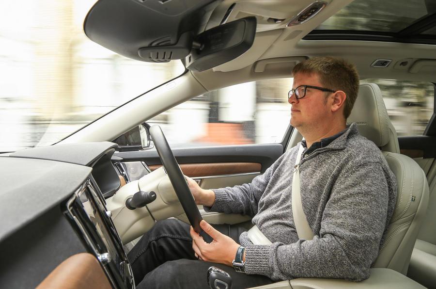 Matt Saunders driving the Volvo V90