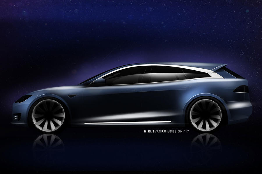 New Tesla Model S Shooting Brake design revealed