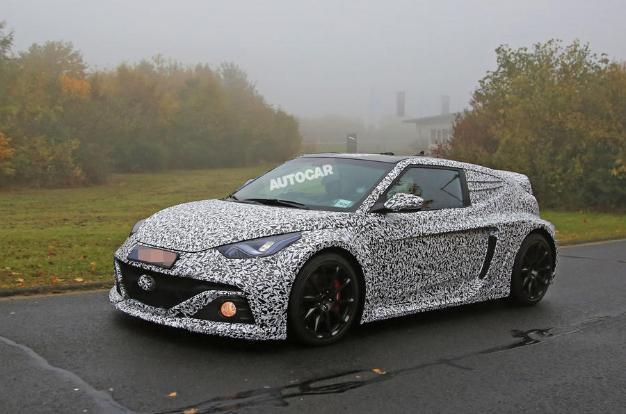 Hyundai Veloster RM16 N - 296bhp mid-engined prototype spotted testing
