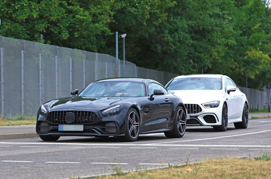 2019 Mercedes AMG GT spies front