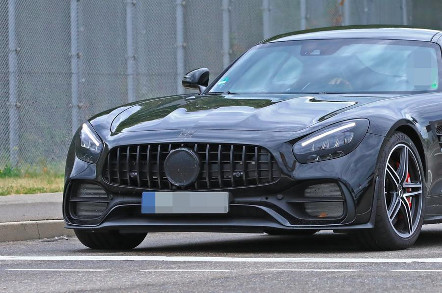 2019 Mercedes AMG GT spies front close