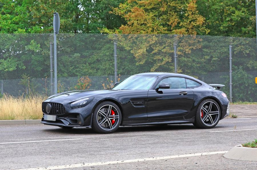 2019 Mercedes AMG GT spies side front