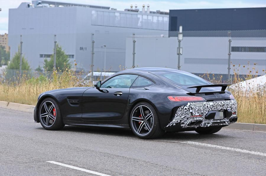 2019 Mercedes AMG GT spies side rear