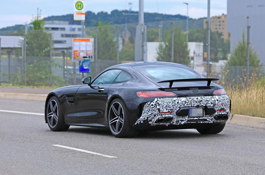 2019 Mercedes AMG GT spies rear side