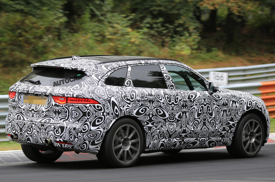 Jaguar F-Pace SVR spotted for the first time