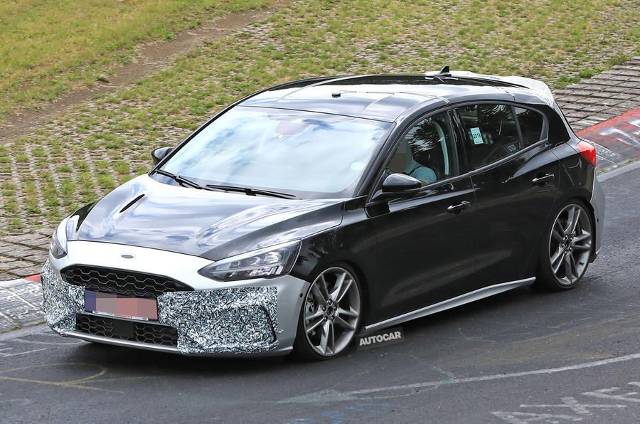 Ford Fiesta Sedan >> New Ford Focus ST caught undisguised at the 'Ring | Autocar