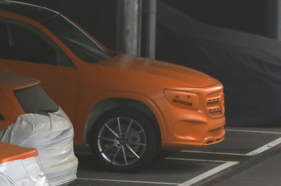 2019 Mercedes GLB: 'road-biased' G-Class sibling caught under wraps