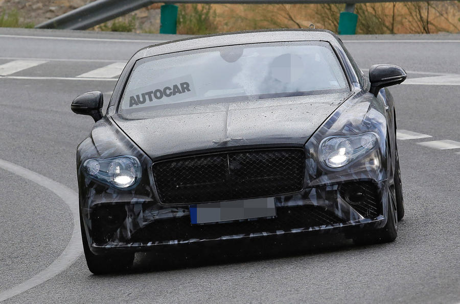 2018 Bentley Continental GT seen almost undisguised