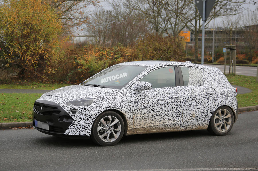 2018 vauxhall corsa hatch spotted with revised interior autocar. Black Bedroom Furniture Sets. Home Design Ideas