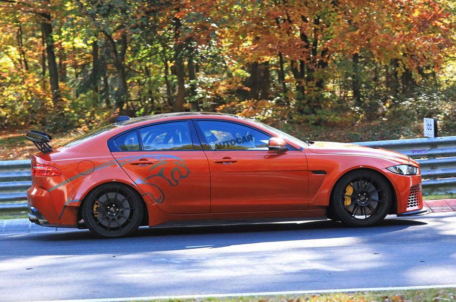 New Jaguar XE SV Project 8 tests at the Nürburgring