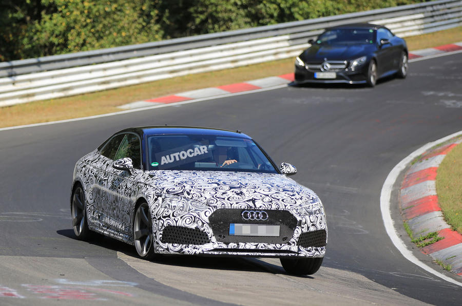 2017 Audi RS5 new turbocharged V6 note recorded at the