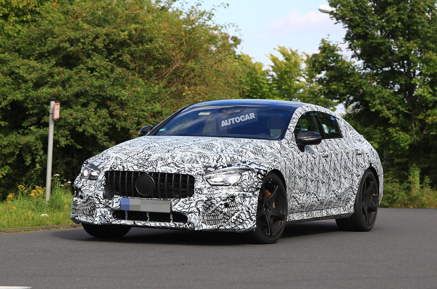 Mercedes-AMG GT four-door - 800bhp hybrid gets active spoiler