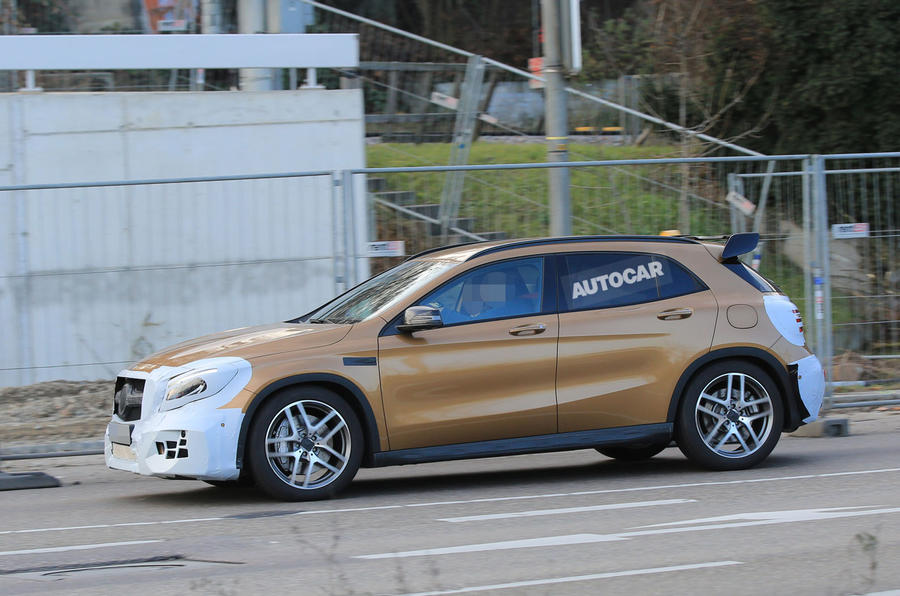 Facelifted Mercedes-AMG GLA 45 spotted testing