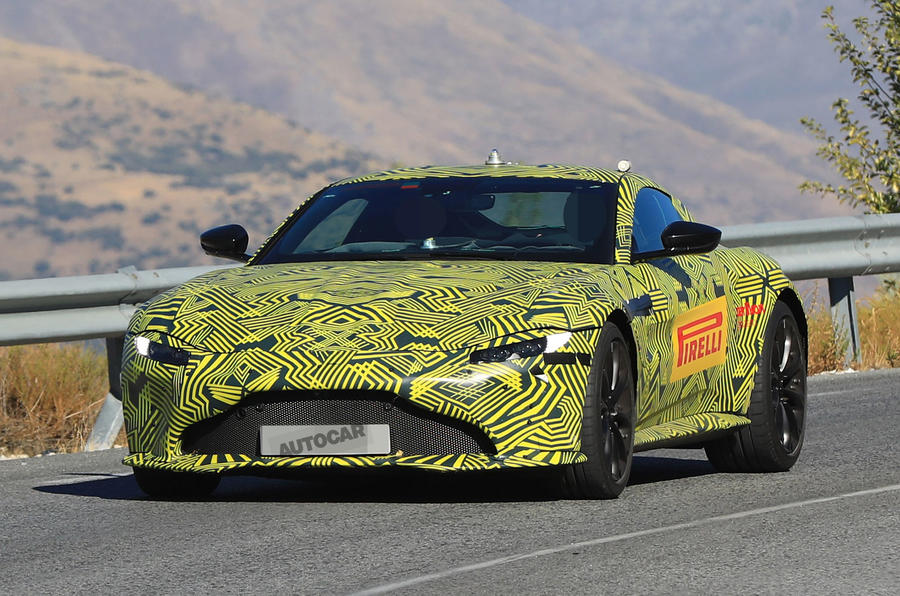 2018 Aston Martin Vantage sighting shows clear DB10 influence