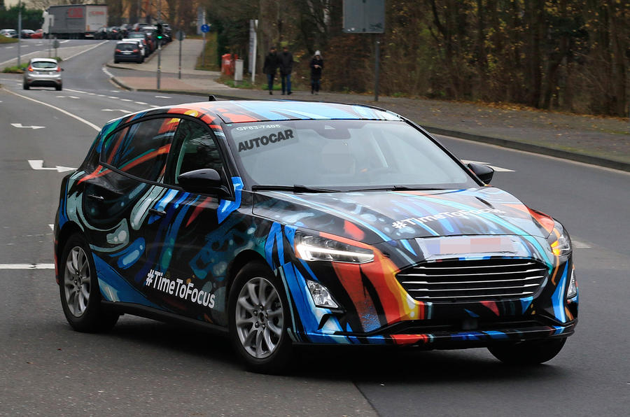 2018 Ford Focus seen in public with production bodywork