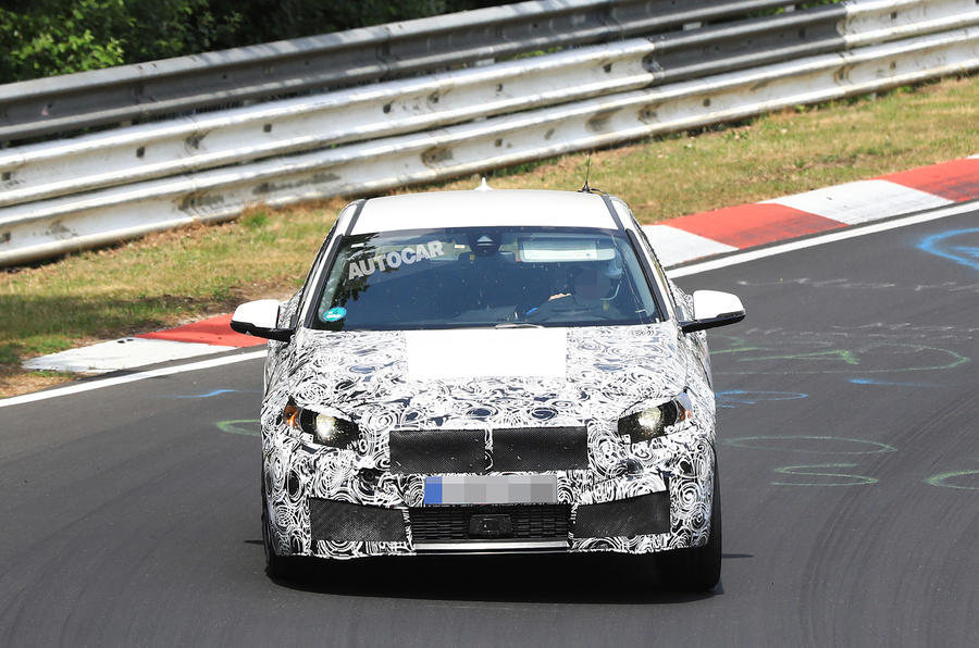Hot BMW 1 Series tests at the Nürburgring