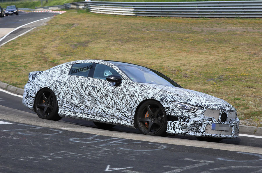 Mercedes-AMG GT four-door - 600bhp Panamera rival tests at NurburgringMercedes-AMG GT four-door - 600bhp Panamera rival tests at Nurburgring