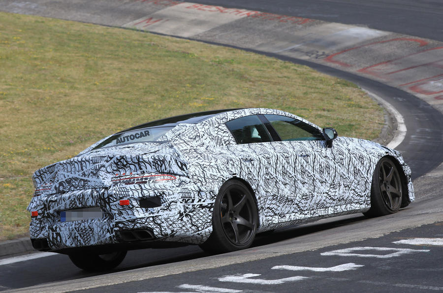 Mercedes-AMG GT four-door - 600bhp Panamera rival tests at Nurburgring