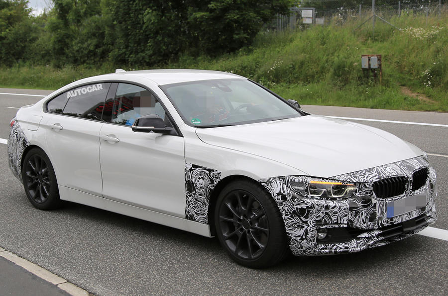 2017 bmw 4 series gran coup facelift spotted autocar. Black Bedroom Furniture Sets. Home Design Ideas